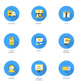 Set of Flat Design Business and Shopping Icons vector image