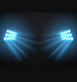 stadium lights shiny projectors isolated vector image vector image