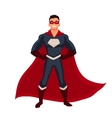 Superhero man in cape and usual clothes vector image vector image