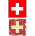 Swiss grunge flag vector image vector image