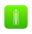 thermometer icon digital green vector image vector image