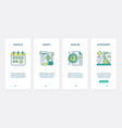 time management and budget business planning ux vector image