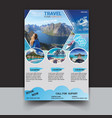 time to travel flyer template vector image vector image