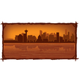 vancouver skyline vector image vector image