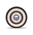 vintage car wheel with spoke vector image vector image