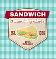 Vintage fast food badge banner or logo emblem vector image vector image