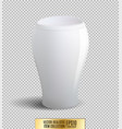 white vase on transparent background vector image