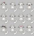 hand drawn cats with different emotions vector image