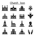 church icons vector image