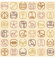 Egypt symbol icon seamless pattern vector image