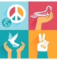 set of peace signs and symbols vector image
