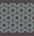 mandala geometric on gray background vector image