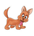 cute funny brown dog vector image