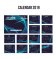 2019 modern calendar background collection vector image