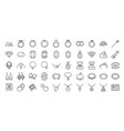 50 jewelry line icon set vector image