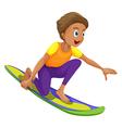 A boy surfing vector image vector image