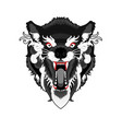 angry-ethnic-wolf vector image vector image