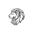 angry lion head black and white logo design vector image vector image