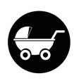 baby carriages icon vector image