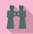 binocular toy icon flat style vector image vector image