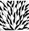black and white leaf pattern stacked on top of eac vector image vector image