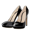 black shoes patent leather vector image vector image