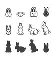 bunny icon vector image vector image