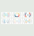 business infographics organization charts with 8 vector image vector image