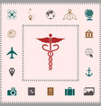 caduceus medical symbol elements for your design vector image