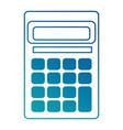 calculator math device icon vector image