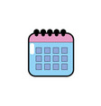 calendar data to organizer important things vector image