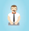 call center operator 24h all time customer sup vector image