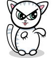 cartoon kawaii kitten vector image vector image