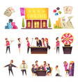 casino life characters set vector image vector image