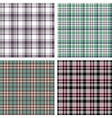 collection seamless plaid patterns vector image