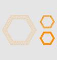 contour hexagon mesh carcass model and vector image vector image