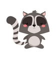 cute raccoon cartoon icon vector image vector image