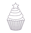 delicious cupcake isolated icon design vector image vector image