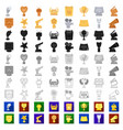 film awards and prizes cartoon icons in set vector image vector image