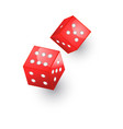 flat cartoon casino dice cubes isolated vector image