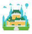 flat design frontenac chateau quebec vector image