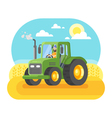 flat style of farmer working in farmed land vector image