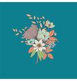 Flower bouquet botanical and floral decoration vector image vector image