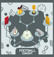 football color concept isometric icons vector image vector image