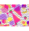fruity seamless pattern with memphis elements and vector image vector image