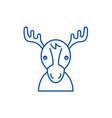 funny deer line icon concept funny deer flat vector image