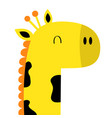 giraffe face head icon kawaii animal cute cartoon vector image vector image
