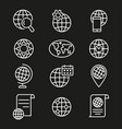 globe - icon vector image