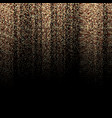 gold glitter texture on a black background golden vector image vector image