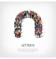 group people shape letter N vector image vector image